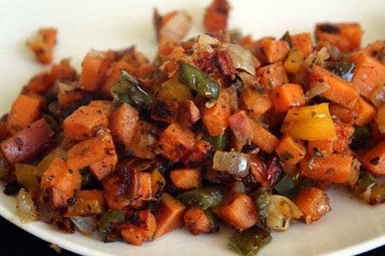 Chicken Sausage & Sweet Potato Hash