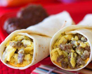 FIT Spicy Ground Turkey, Egg & Cheese Breakfast Burrito